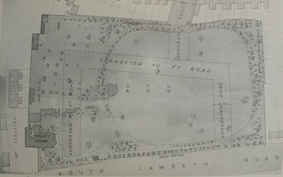 Planned Tradescant Road map 1880