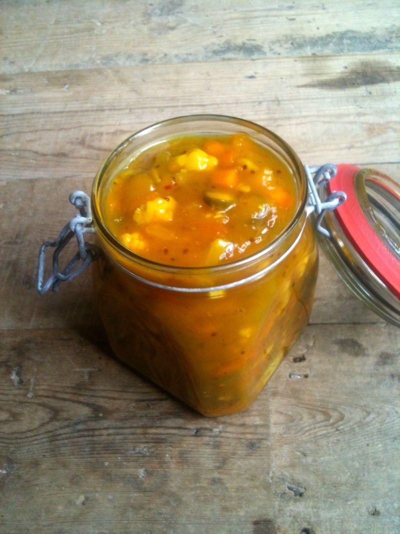 Piccalilli jar