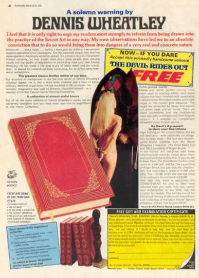Dennis Wheatley Heron Ad - 1