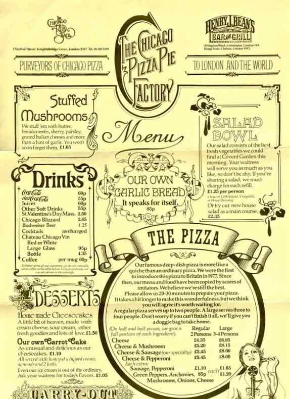Deep Dish Thick Pizza Places In London London